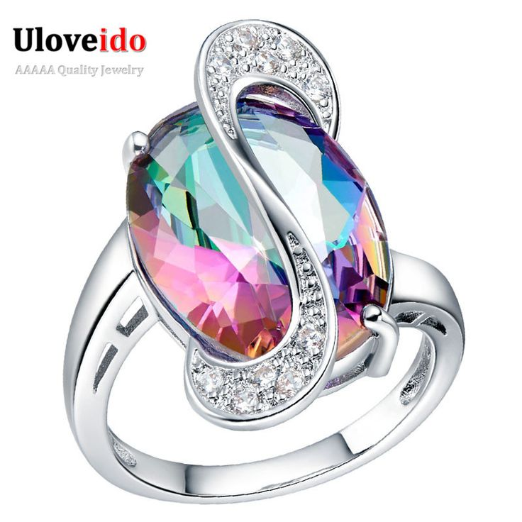 Find More Rings Information about Ocean Love Blue Red Purple Simulated Diamonds Silver Rings for Women Silver Jewelry Crystal Ring Engagement New Year Gifts J195,High Quality diamond ring 14k,China ring sucker Suppliers, Cheap diamond titanium ring from ULOVE Fashion Jewelry on Aliexpress.com