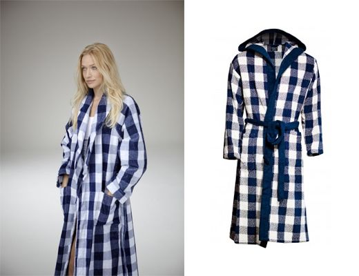 Win a luxurious blue check morning robe from Hästens | SA Décor & Design Blog