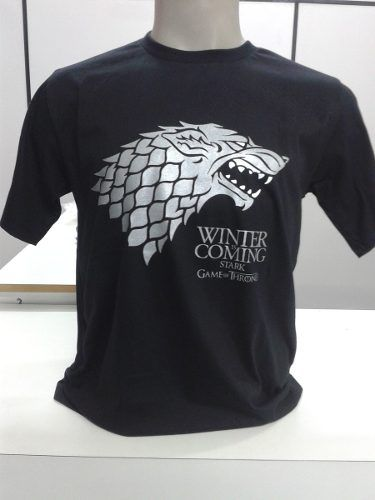 Camiseta Game Of Thrones Stark Em Serigrafia Malha Fio 30