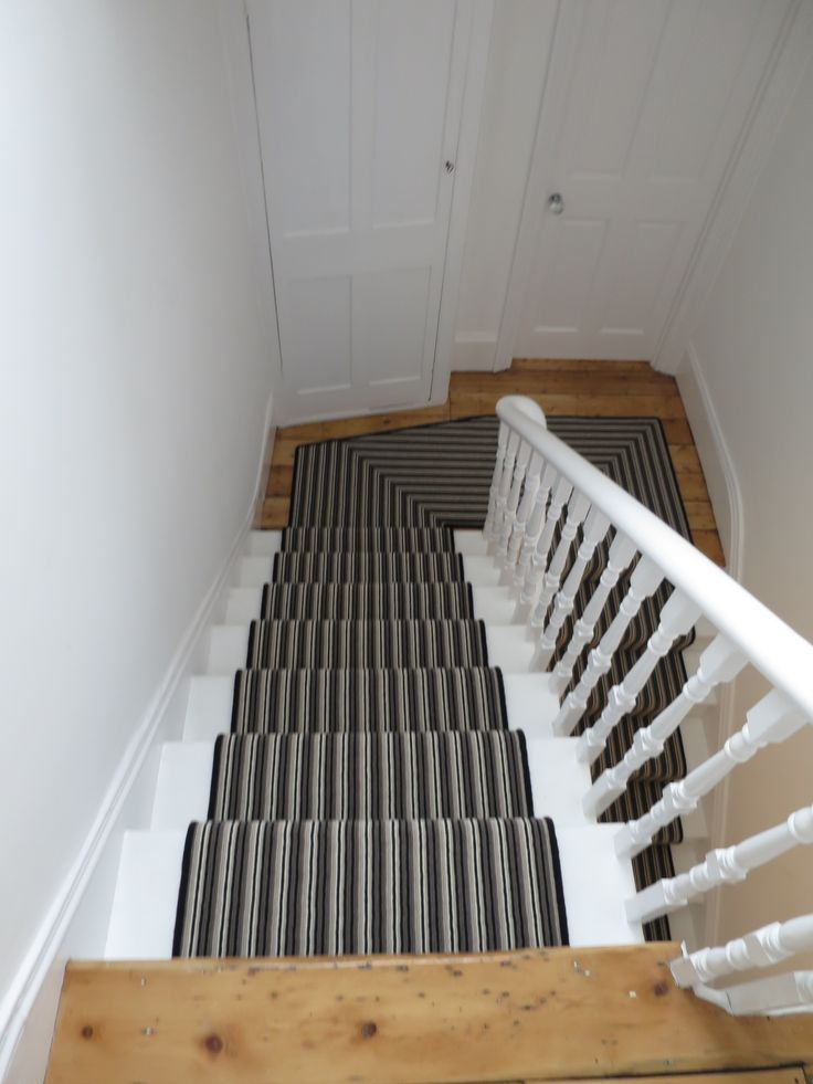 Grey And Black Stripe Stair Runner By Bu0026R Carpet Company #carpet #runner # Stairs