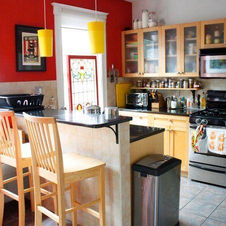 Mejores 21 imágenes de Kitchen - red en Pinterest   Cocina roja ...