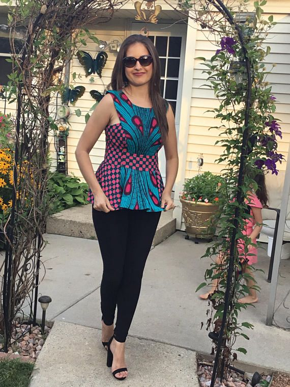 African fabric top/African print to/African fabric top/African