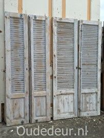 nr. 448 serie brede louvre deuren (6 stuks)