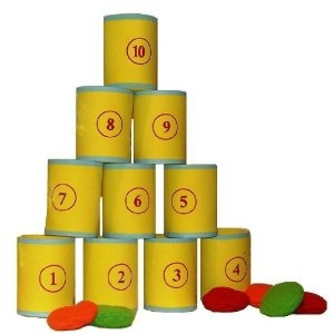Traditional Garden Games Tin Can Alley Fairground Target Game: Amazon.co.uk: Toys & Games