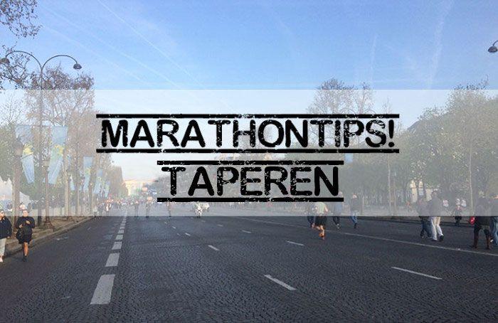 Marathontips: Taperen