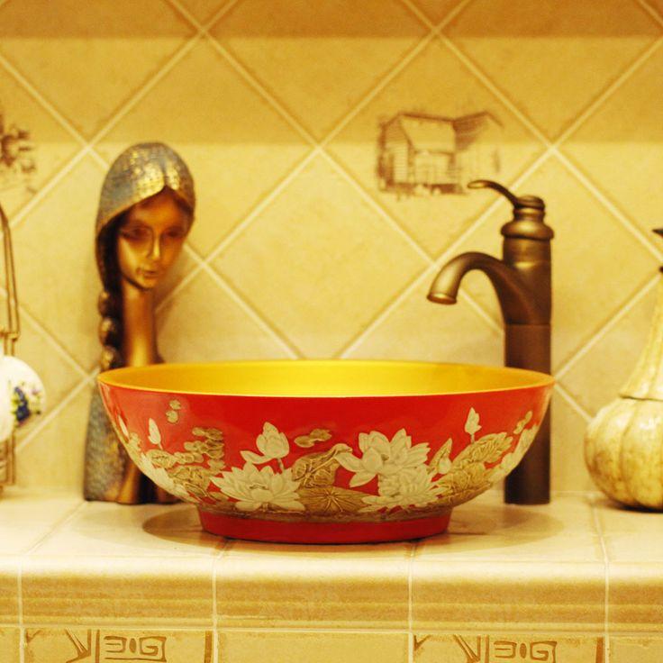 vintage fontes do banheiro lavatório estação de lavagem arte contra bacia banheiro vaidade antiga 1184 191.77: