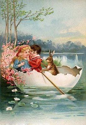 Happy Easter!!!  (vintage easter card)