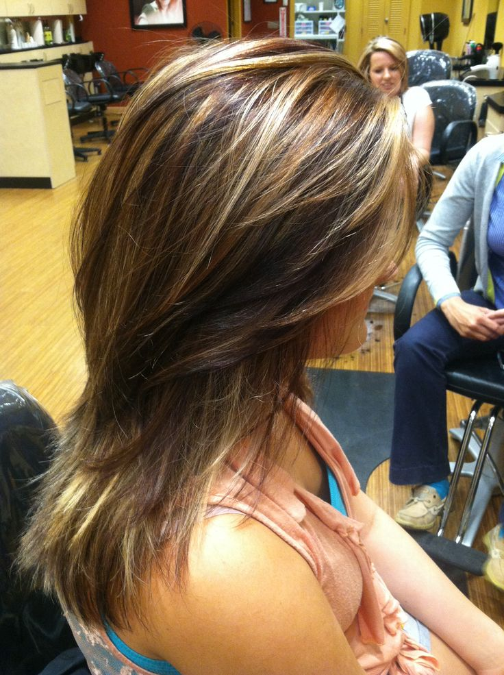 Kacie S Red And Brown Low Lights With Blonde Highlights