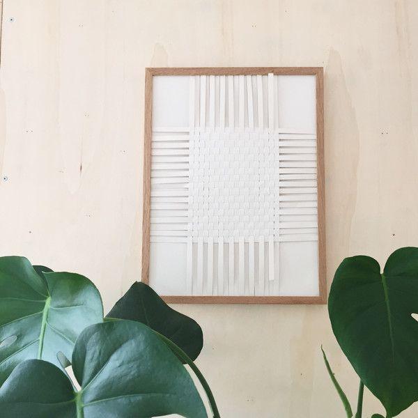 Lag enkel papirkunst til veggen