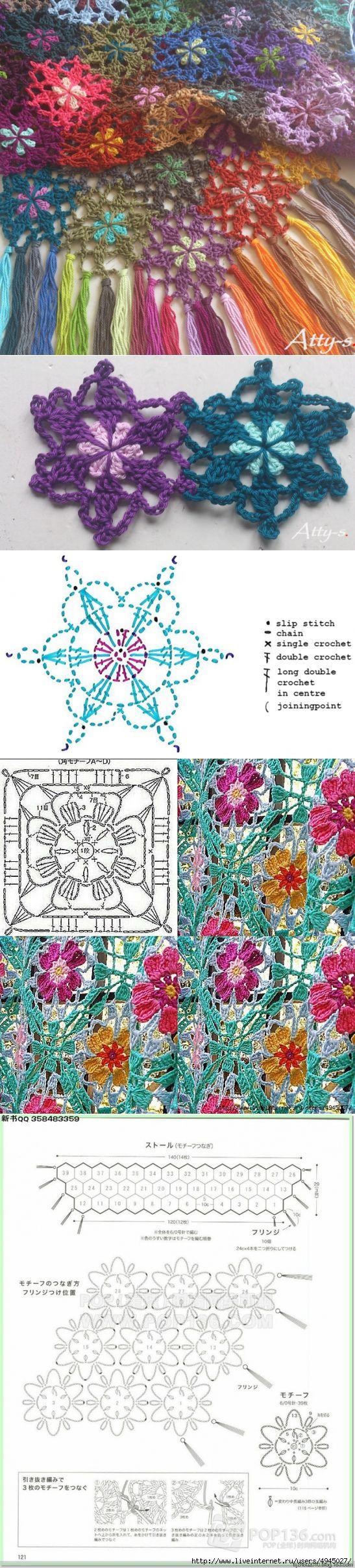 Scarf motifs hook