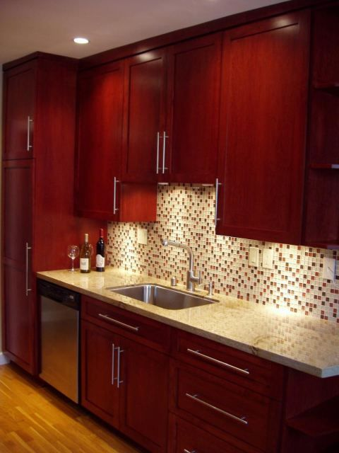 Love the colors without busy backsplash