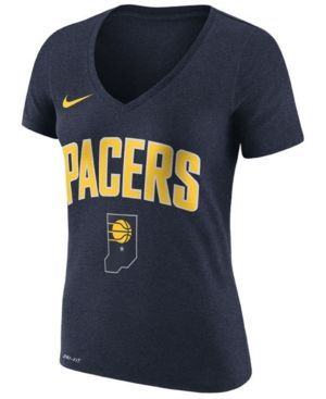Nike Women's Indiana Pacers Wordmark T-Shirt - Blue XXL