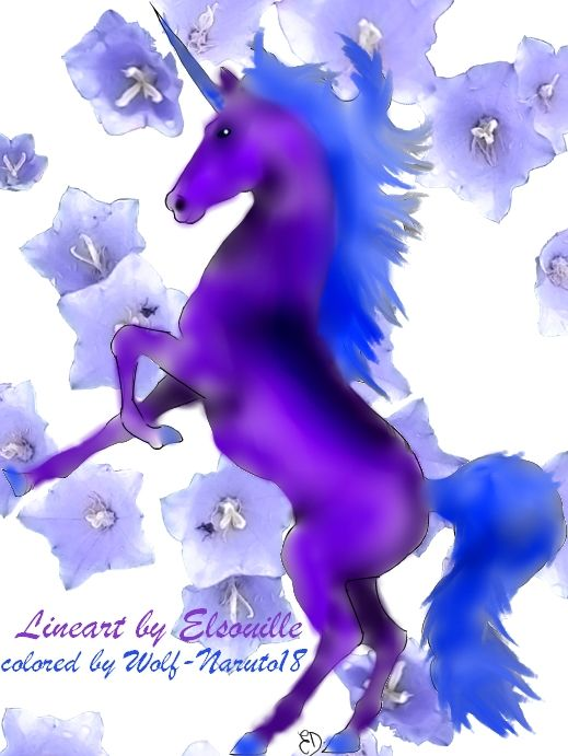 unicorn pictures | Blue and Purple Unicorn by LeaTenshi on deviantART