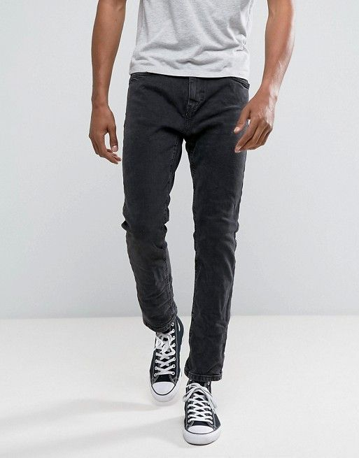 f98ef46652 Bershka Slim Fit Jeans In Washed Black | Winston | Slim jeans ...