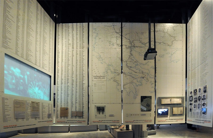 "The Holocaust History Museum - The ""Final Solution"": The sixth gallery, the largest in the museum, deals with the implementation of the ""Final Solution"" of the Jewish Question in Europe and Jewish resistance in the Ghettos.  Beginning with the deportation of Jews from the Ghettos, the gallery shows the murder of Poland's Jews in the extermination camps of Operation Reinhard. In the north-east corner of the gallery a map depicts the extensive network for deportation to the death camps."