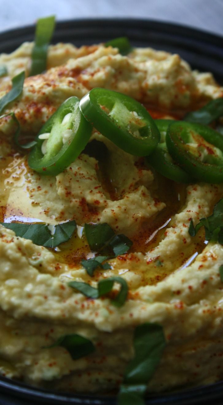 This Jalapeno Hummus recipe is a smooth homemade hummus with fresh jalapenos for…