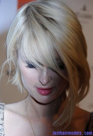 Paris Hilton Paris Hilton's asymmetrical bob: Peppy hairstyle!