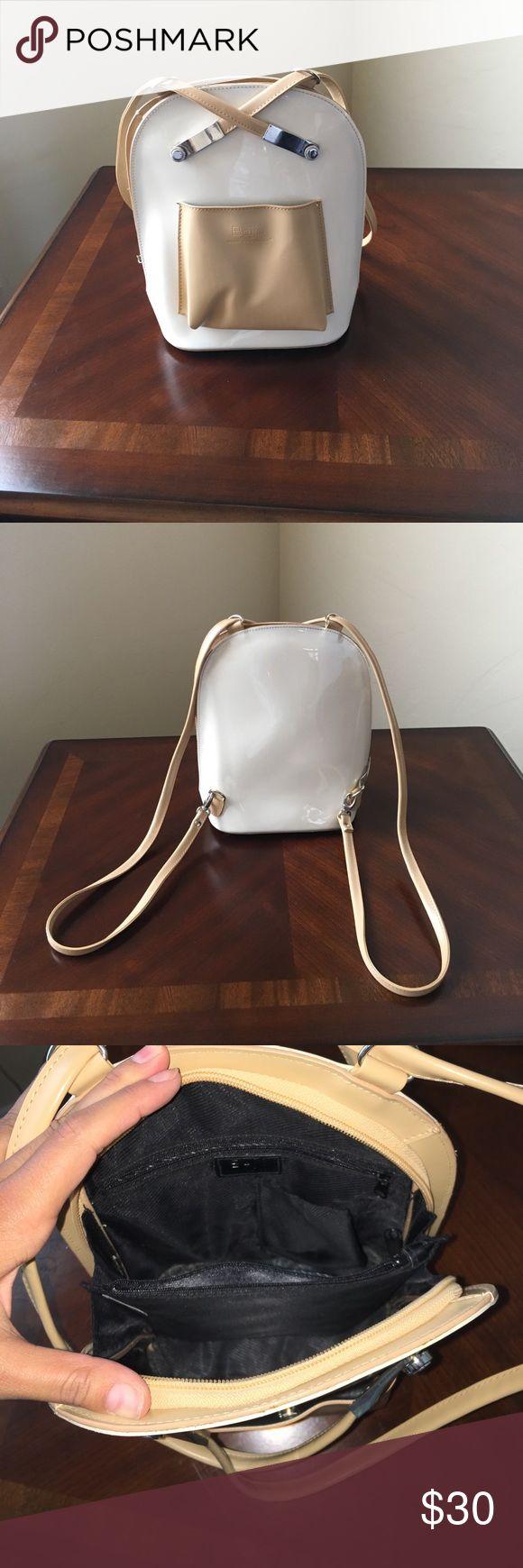 Beijo Backpack Lightly used tan & cream Beijo backpack Beijo Bags Backpacks