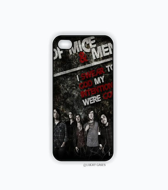 Of Mice and Men Band Poster Iphone 5 case, Iphone 5s case, Hard Plastic Case