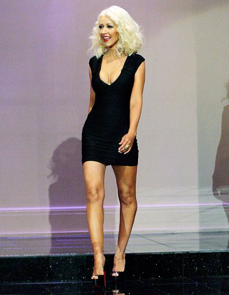 Love the hair!!  Christina Aguilera visits The Tonight Show With Jay Leno on September 18, 2013.