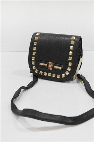 Zımba Modelli Çanta - Siyah - Can Bag çanta modelleri, sırt çantası, yılan derisi, tutmalı çanta, çanta markaala.com.tr #moda #fashion #diy #tesettür #çanta