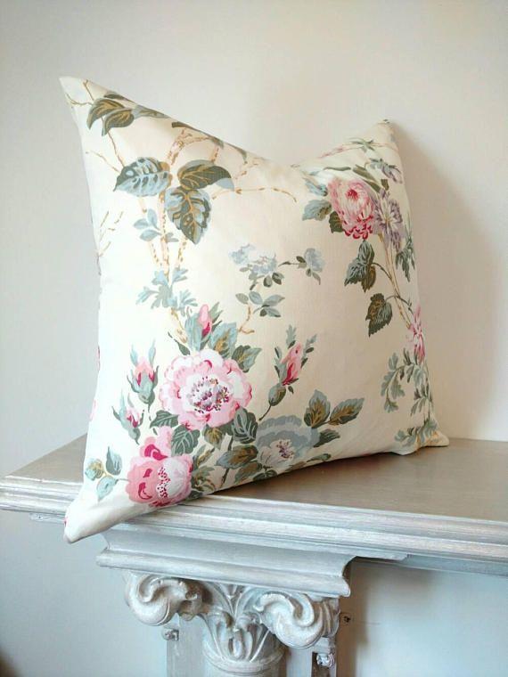 Floral Pillow Decorative Pillows Home Decor Pink Floral Pillows Roses Pillow Covers Cottage Pillows Country Easy Home Decor Handmade Home Floral Pillows