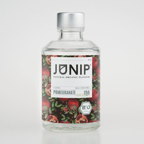 The fruity and sweet flavour of our JUNIP Pomegranate infuser is an ideal addition to your drinks, desserts and sorbets.  Delicious and ruby red! A hassle to eat but we have the perfect solution for you – with our JUNIP Pomegranate you no longer need to scoop out the fruit but can enjoy it just the way we serve it!