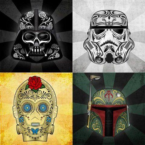 starwars perfection: War Tattoo, Stars War Art, Sugar Skull, Of The, A Tattoo, Dead, Candy Skull, Day, Starwars