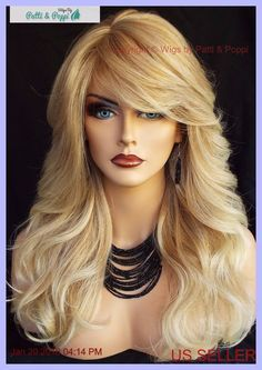 The 25 best ebay hair extensions ideas on pinterest coloured long wavy heat friendly wig highlighted t27613 blond duet gorgeous sexy 203 pmusecretfo Images