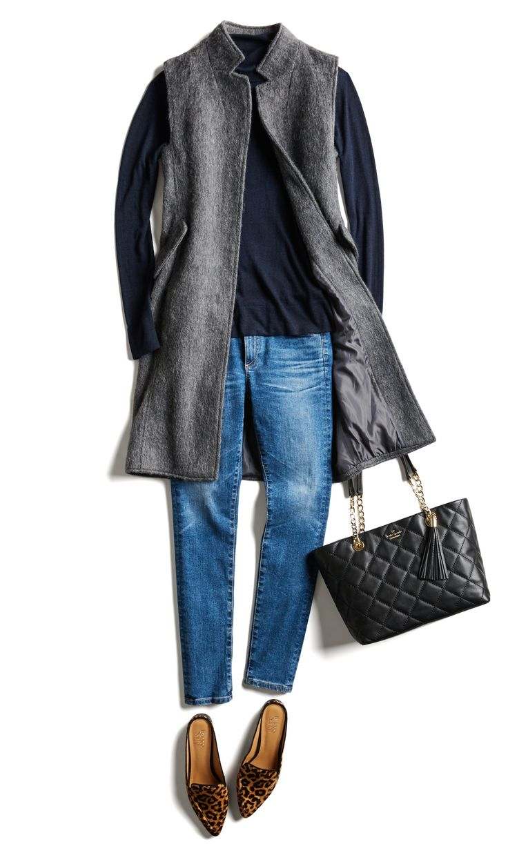 Swap out classic outerwear for a modern duster vest.
