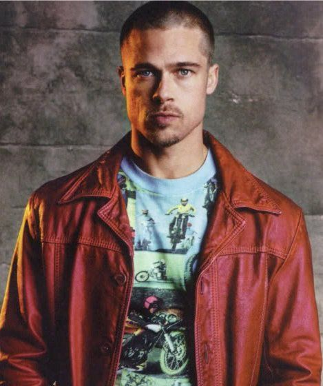 brad pitt fight club buzz cut - photo #2