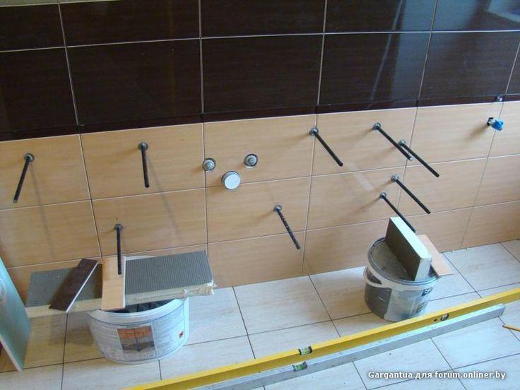 Подвесная столешница для ванной своими руками