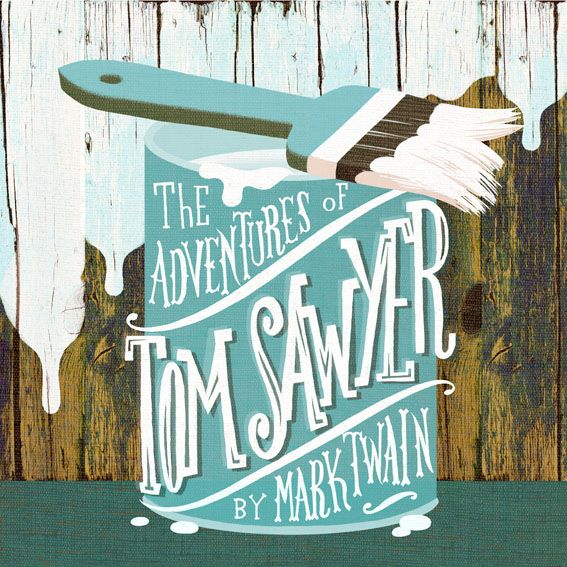 lettering cover artwork, book cover, tom sawyer by mark twain. by marco marella https://www.behance.net/marcomarella