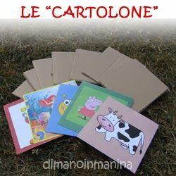 "Le ""cartolone"" gioco - home made flash cards"