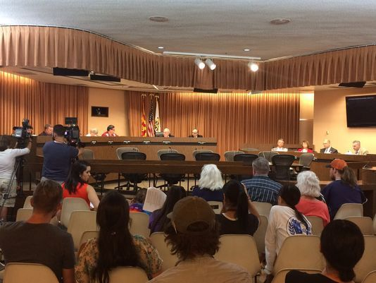 690 6 1  Pima County, Tucson officially oppose President Donald Trump's proposed border wall   --   Tucson City Council