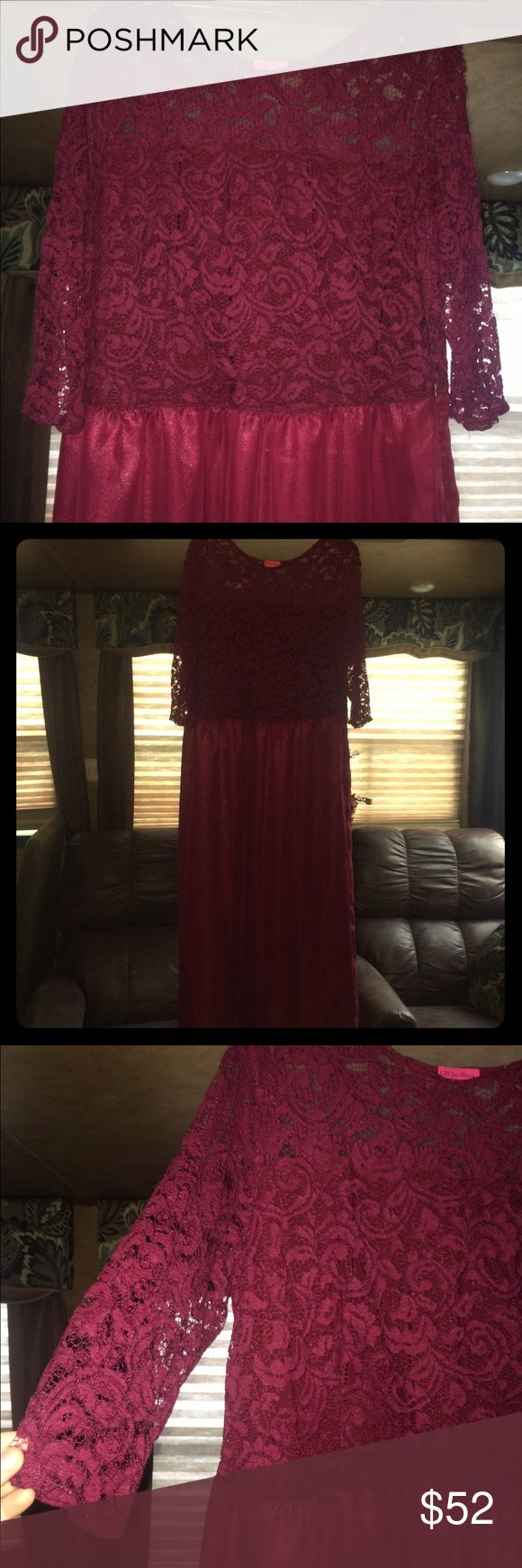 Dress‼️ Wine colored elegant dress. Only worn once in a Wedding! 😍 alice berry Dresses Prom