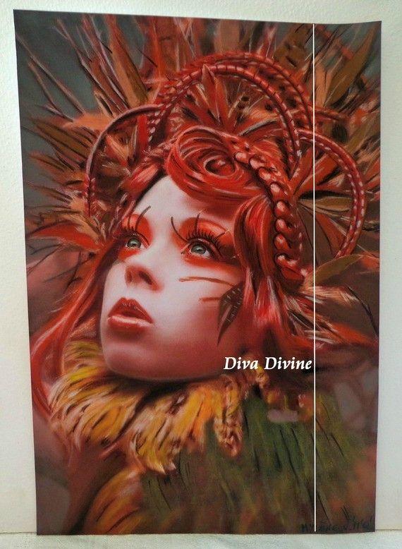 Peinture Pastel Sec pour Tableau Féérique, ° MYLENE ° PEINT A LA MAIN - PASTEL SEC