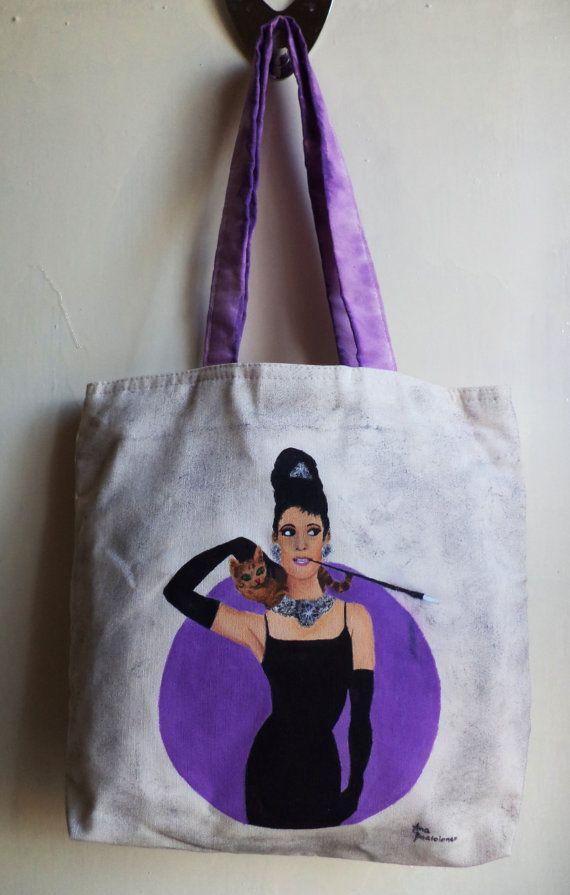 Audrey Hepburn Tote Bag, Hand bag, Bag, Purse