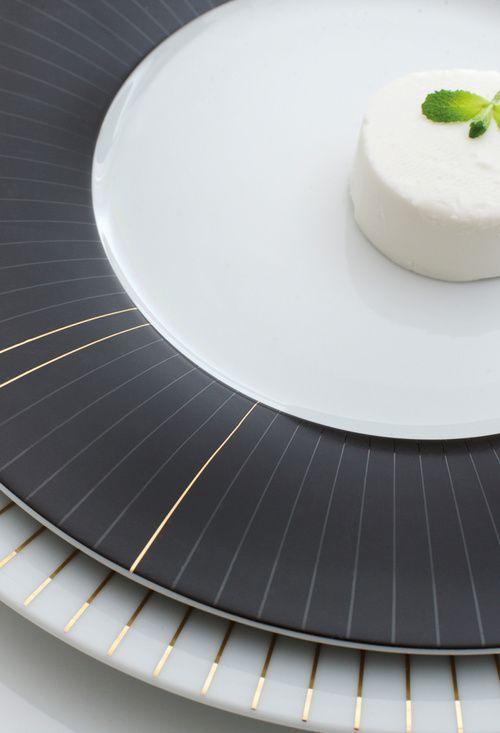 Mag Grip Dekor Black Ray, Design: Laura Straßer für KAHLA Porzellan Magisch, geheimnisvoll und gerade durch seine feine Linie außergewöhnlich expressiv.