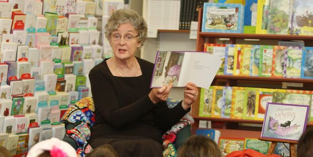 Dame Lynley Dodd reads her latest Slinky Malinky book. Photo/file