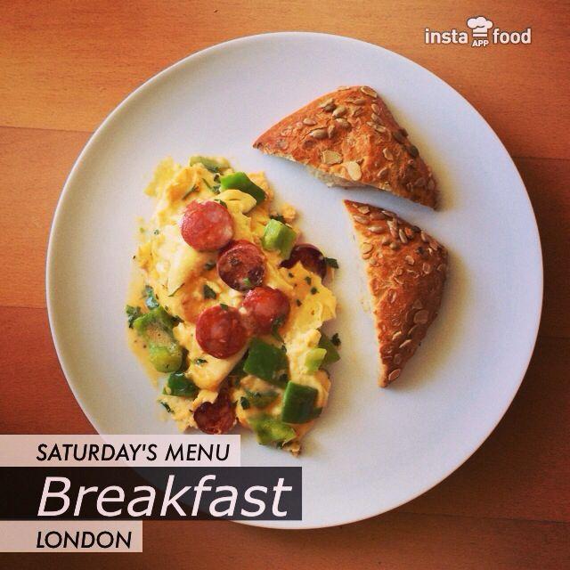 Chorizo and green pepper omelette.   Food   Pinterest