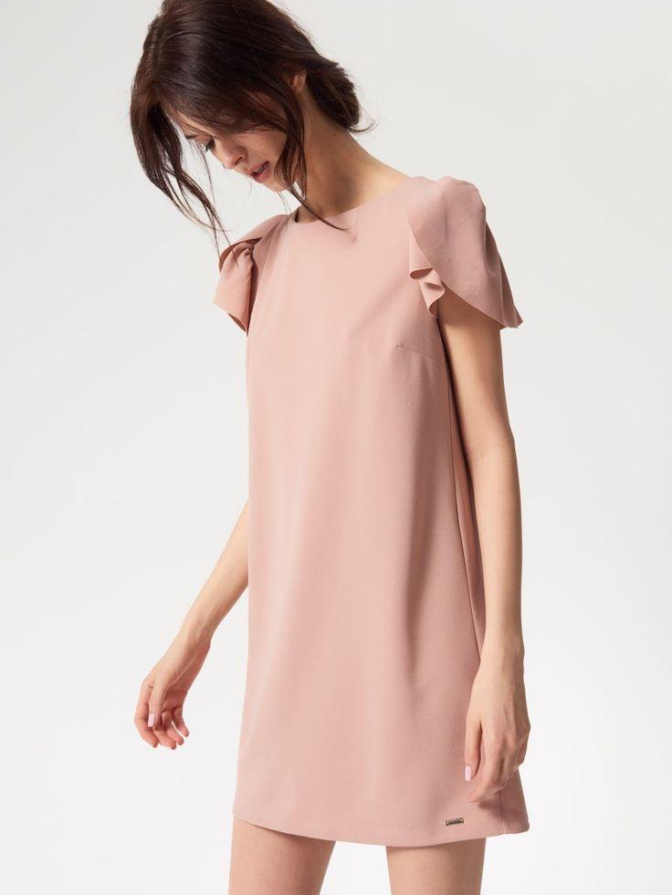 Sukienka z rękawem w formie falbany, MOHITO, RS792-03X