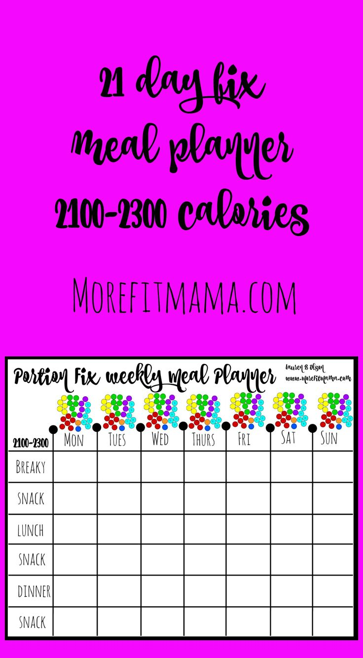 Plan your 21 day fix 2100 2300 calorie meal plan with me for 2100 2300