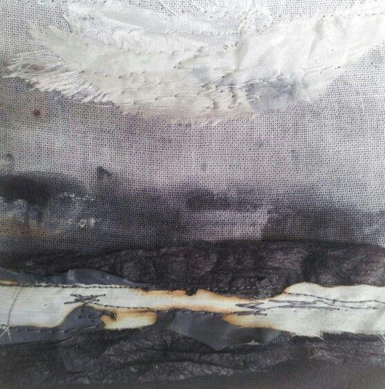 Sea Strata 4- Laura Edgar #textile art
