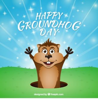 Happy Groundhog Day! As you well know, if it's a cloudy day and the groundhog doesn't see its shadow then spring will come early and you can pack those winter clothes up. If the groundhog does see its shadow and goes back in its home though, you will have 6 more weeks of winter. Fingers Crossed!