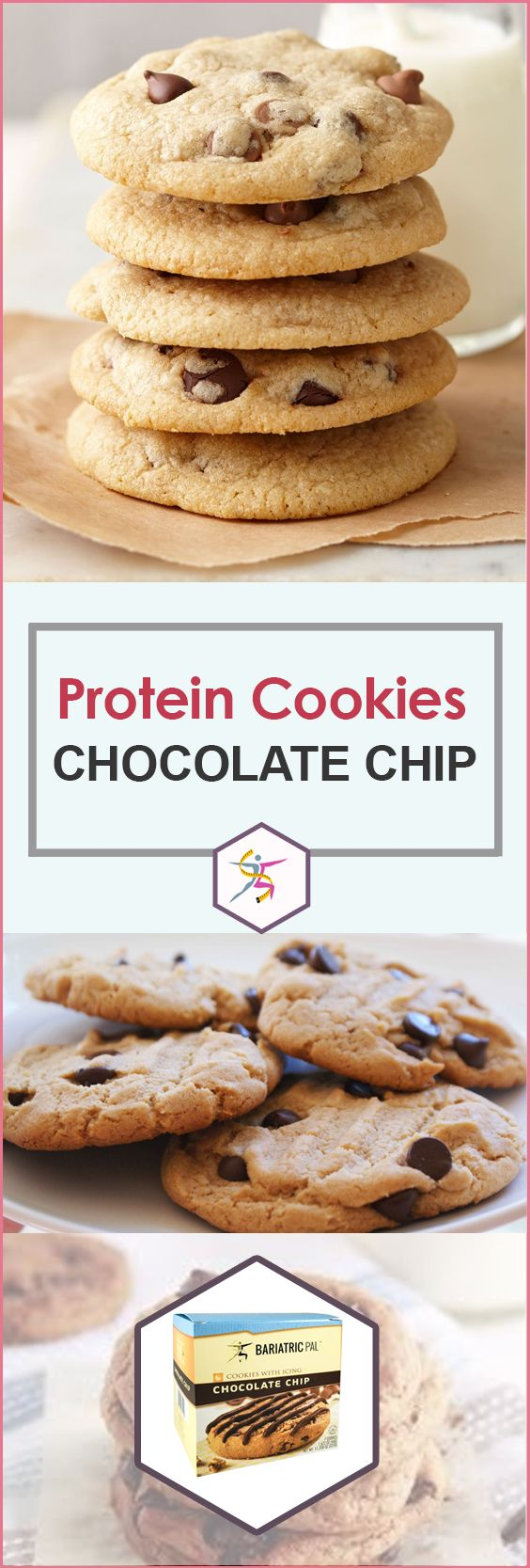 BariatricPal 14g Protein Cookies - Chocolate Chip Chocolate with DrizzleFresh-baked cookies with a drizzle of icing…a sweet, satisfying taste that you may dream of after weight loss surgery or when you're dieting. Take away the calories and sugar, add some protein, and you have BariatricPal cookies! They have 165 calories, 5 grams of sugar, and a whopping 15 grams of protein to give you a guilt-free snack or dessert.Highlights:14 grams protein165 calories5 grams sugarSuitable
