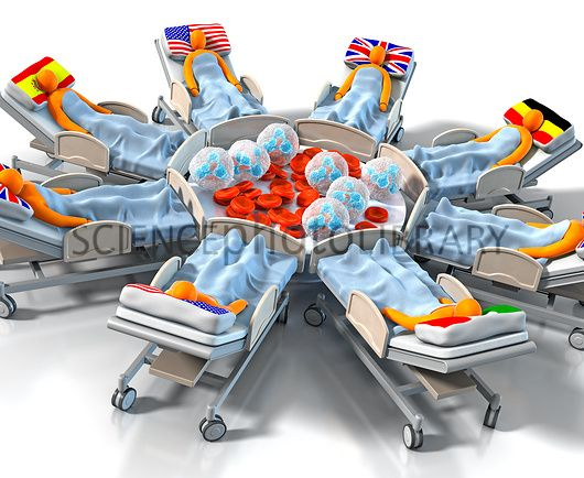 Global sepsis treatment, conceptual image
