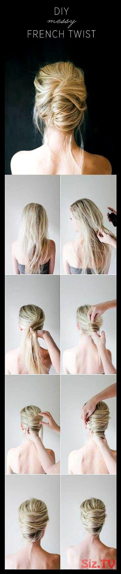 Trendy Hair Styles Easy Quick Mornings Messy Buns 32 Ideas Trendy Hair Styles Ea... ,  #Buns ...