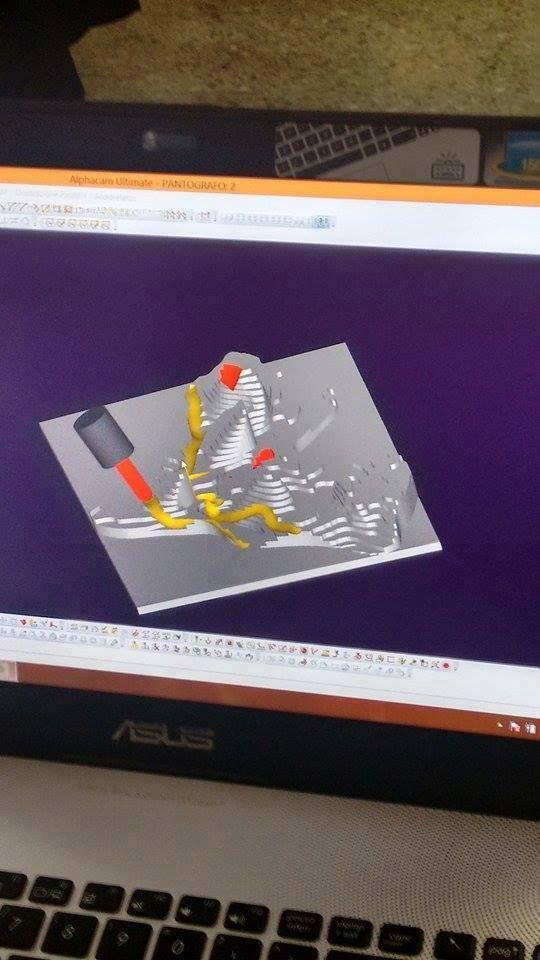 Simulazione con Alphacam Continua per i ragazzi l'approccio con i vari #tools di #Blender: modellazione di #mesh, verifica di chiusura del pezzo e ottimizzazione per la #stampa3D. Go makers!