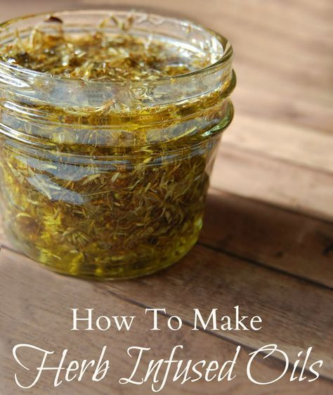How to Make Herb Infused Oils - Infusing oils are a great way to use herbs for cooking but they are amazing for medicinal purposes. The types of herbs you use will naturally result in a different infused oil. This opens up so many possibilities and many different remedies can be made but all infused oils use the same basic methods when being made.